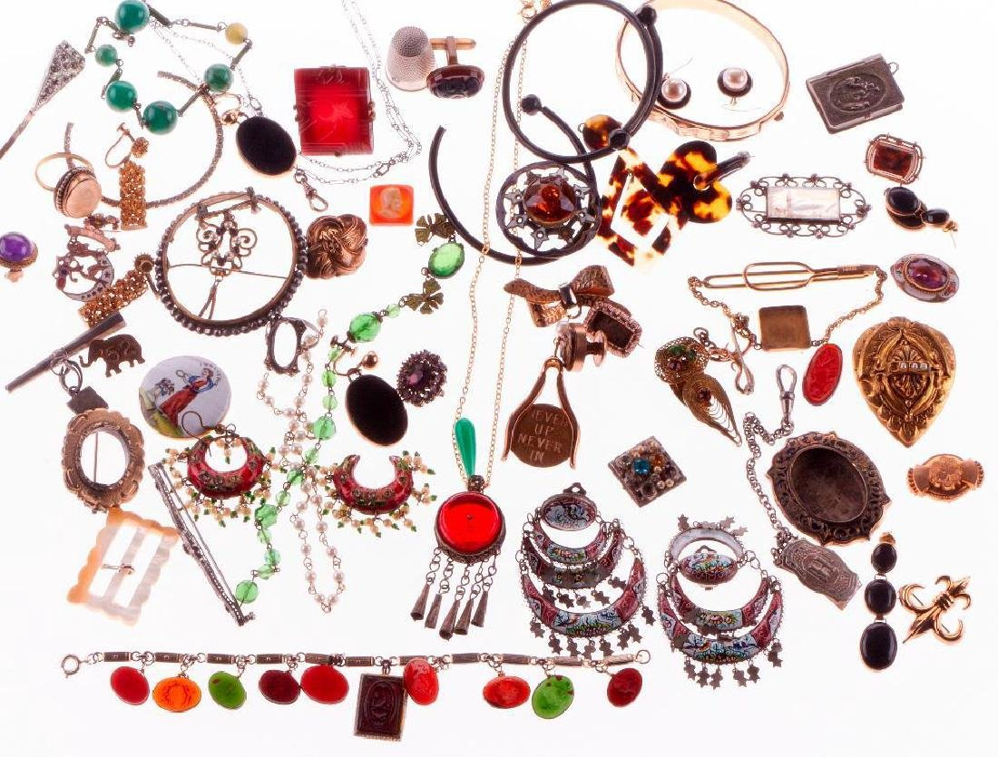 60+ antique and vintage silver and costume jewelry