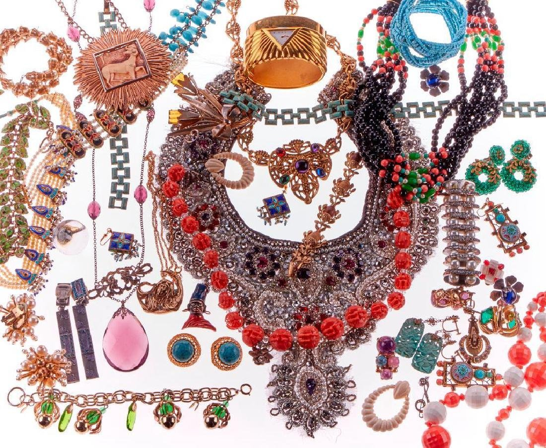 Collection of 80+ bone and beaded necklaces and jewelry