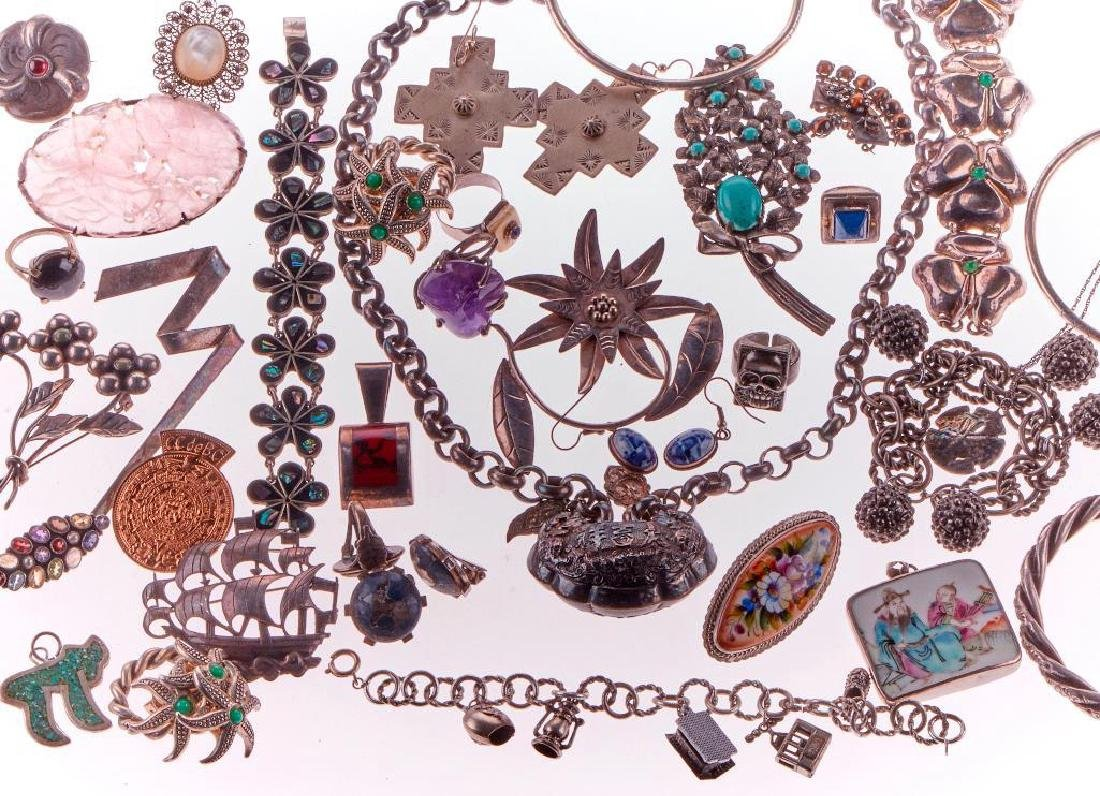 Collection of 200+ silver and metal jewelry
