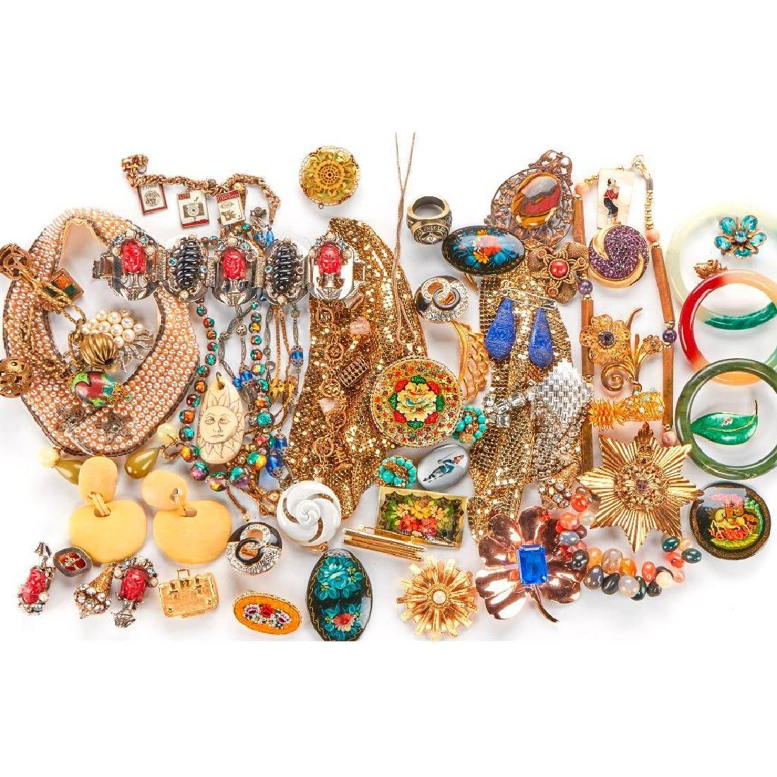 Collection of 160+ costume and silver jewelry