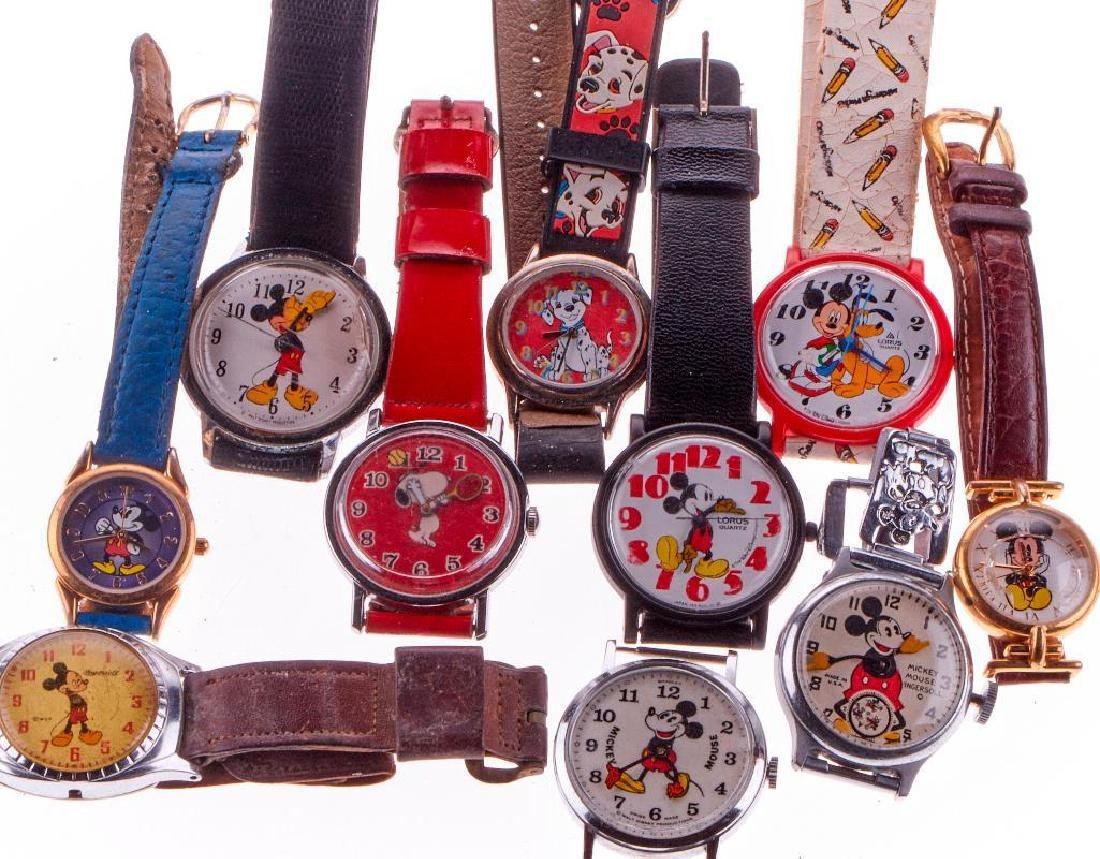 Mickey Mouse watches and two character watches