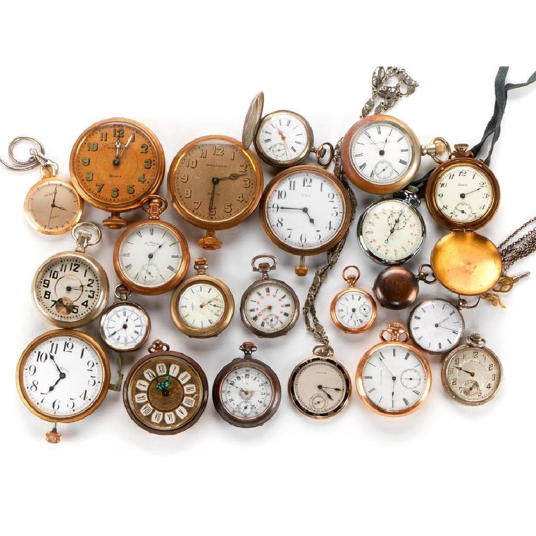 Collection of assorted pocketwatches and movements