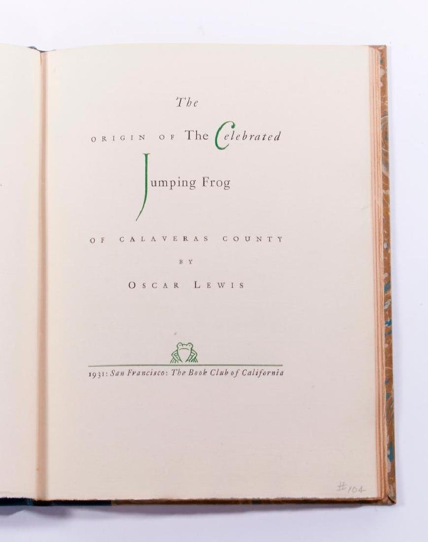 Oscar Lewis Celebrated Jumping Frog of Calaveras County - 2