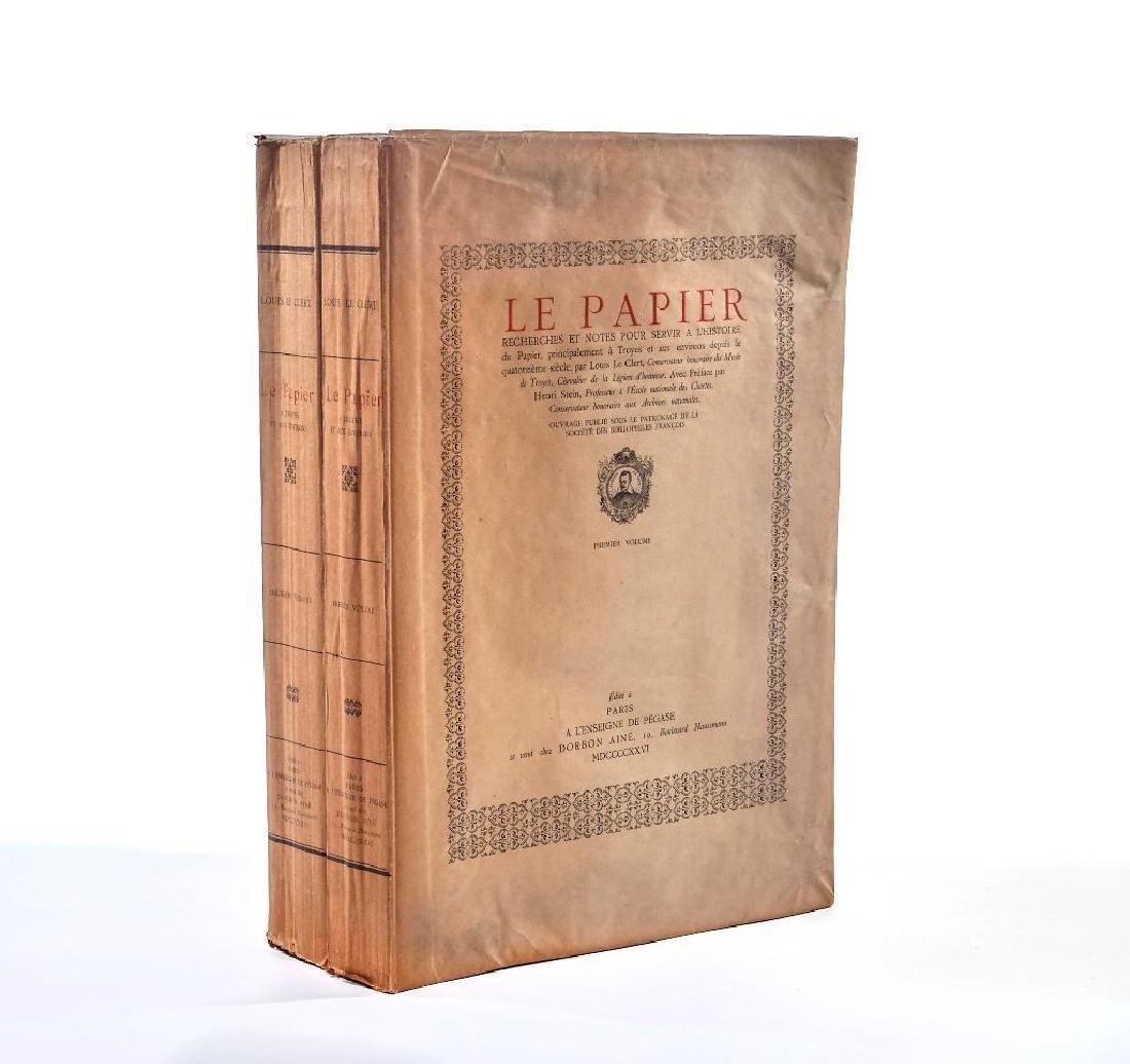 Le Papier. Recherches et notes pour servir a l'histoire
