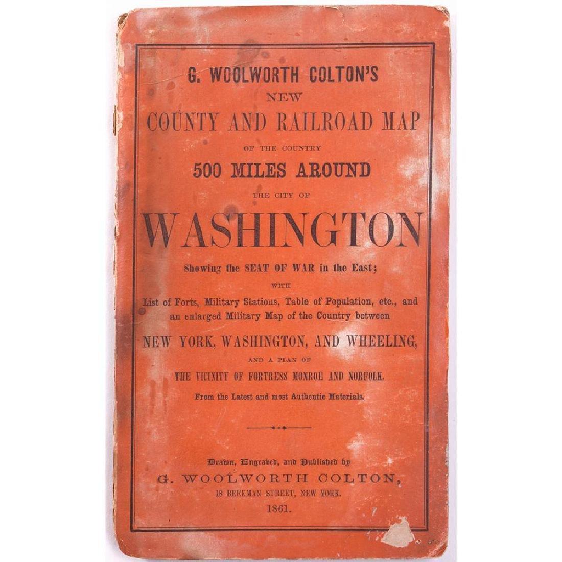 G.Woolworth Colton, Map of Washington, 19861