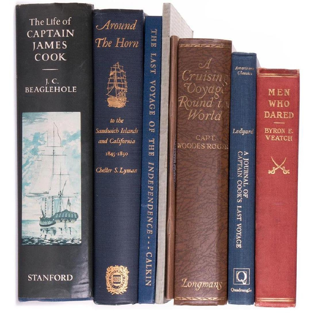 Eight works on Cook's voyages, and other explorations