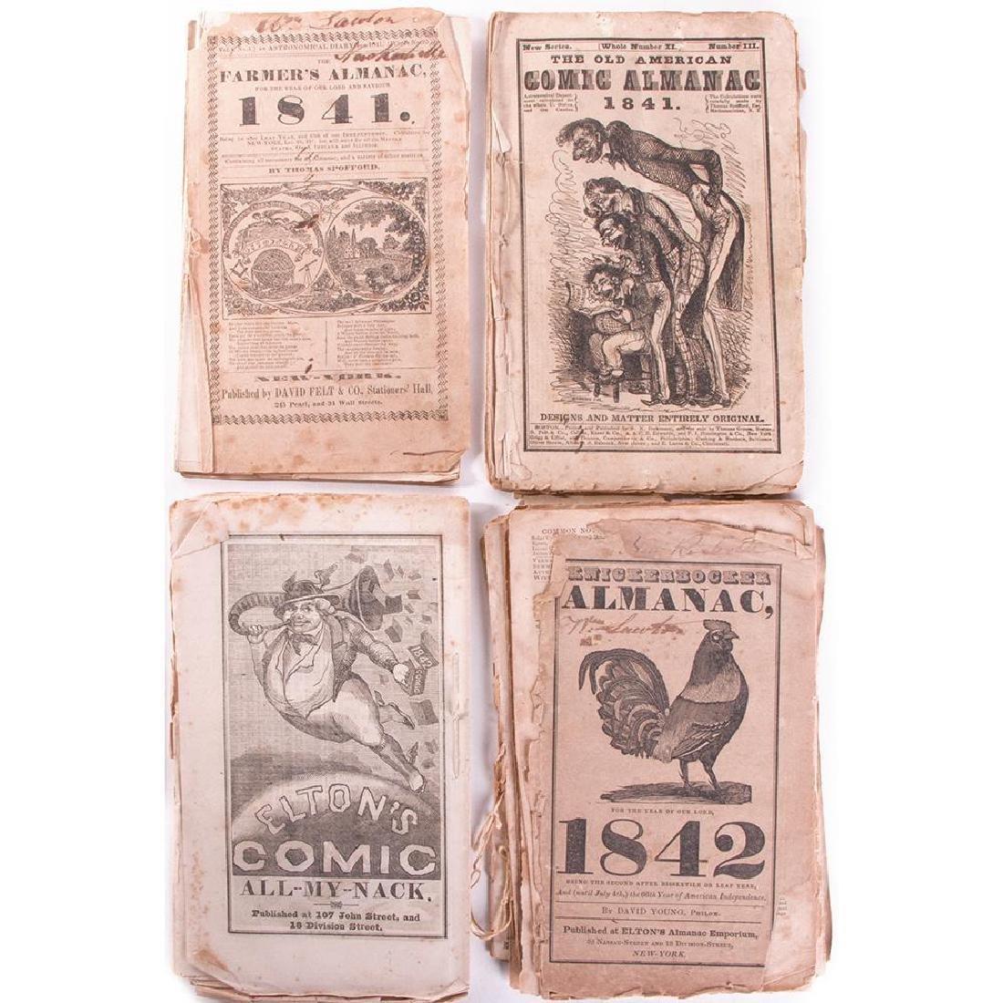 Selection of Four Almanacs: 1841, 1842