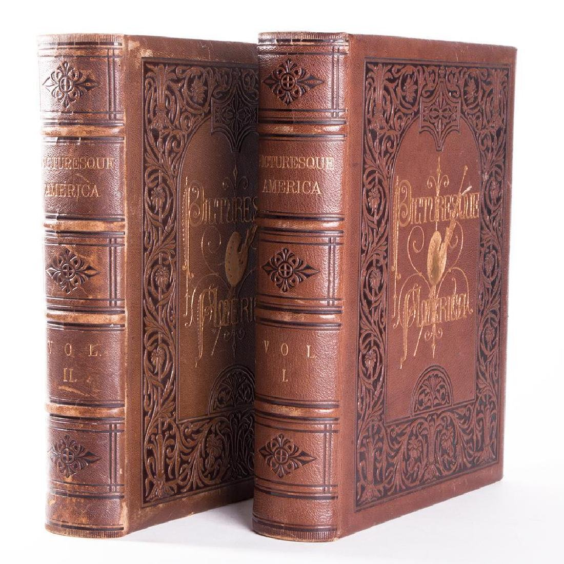 2 Volumes, Picturesque America; Or, The Land We Live In