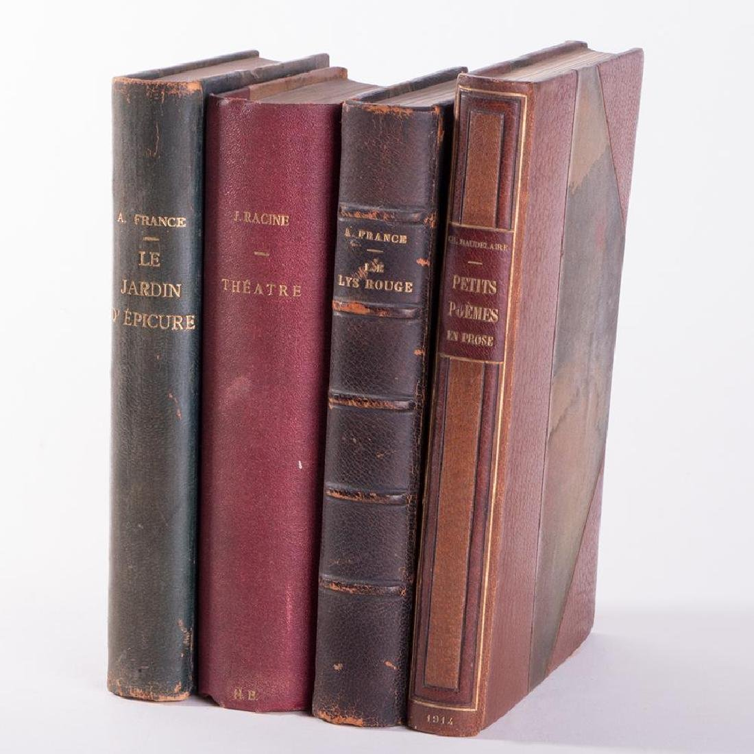 Collection of Four French works: Anatole France, J. Rac