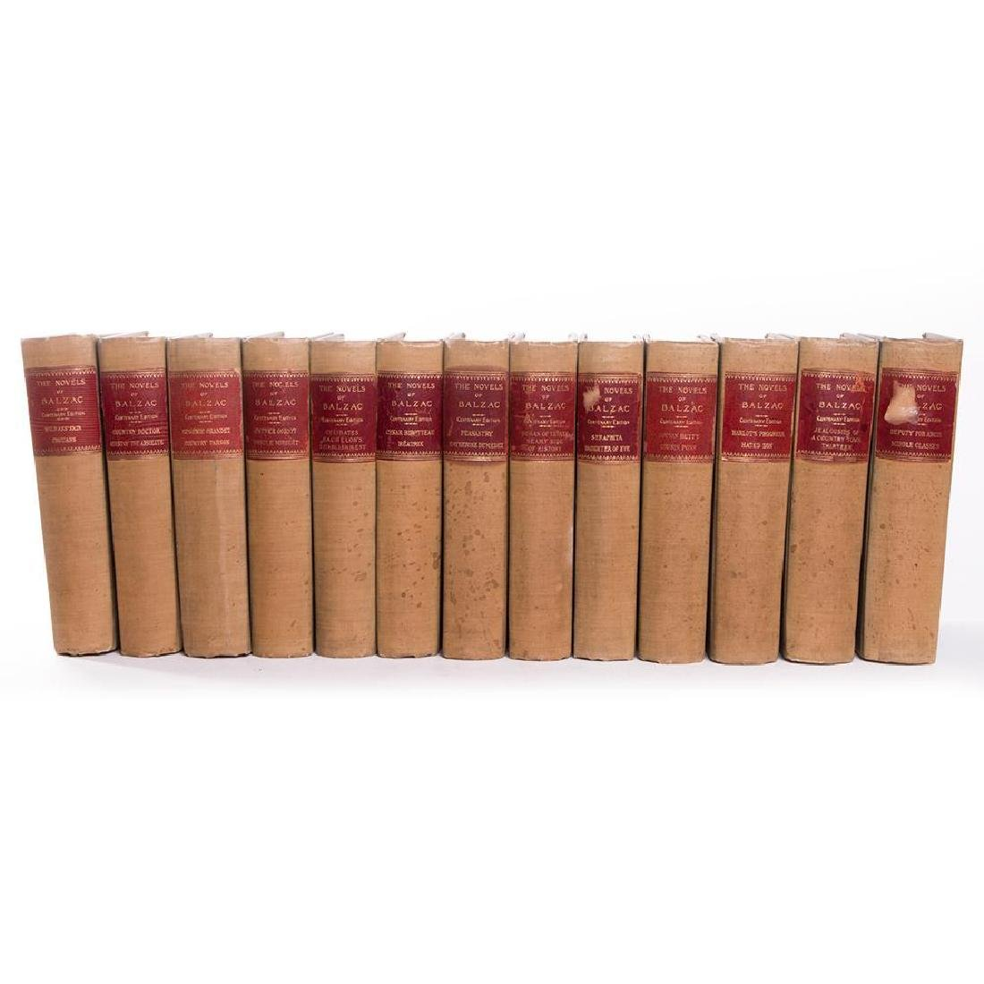 Thirteen volumes by Honore de Balzac