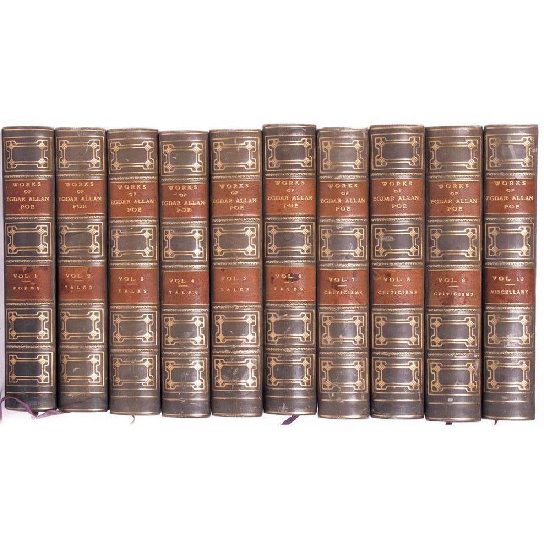 Ten volumes by Edgar Allan Poe