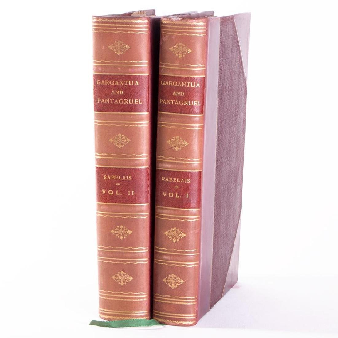 Two volumes by Francis Rabelais