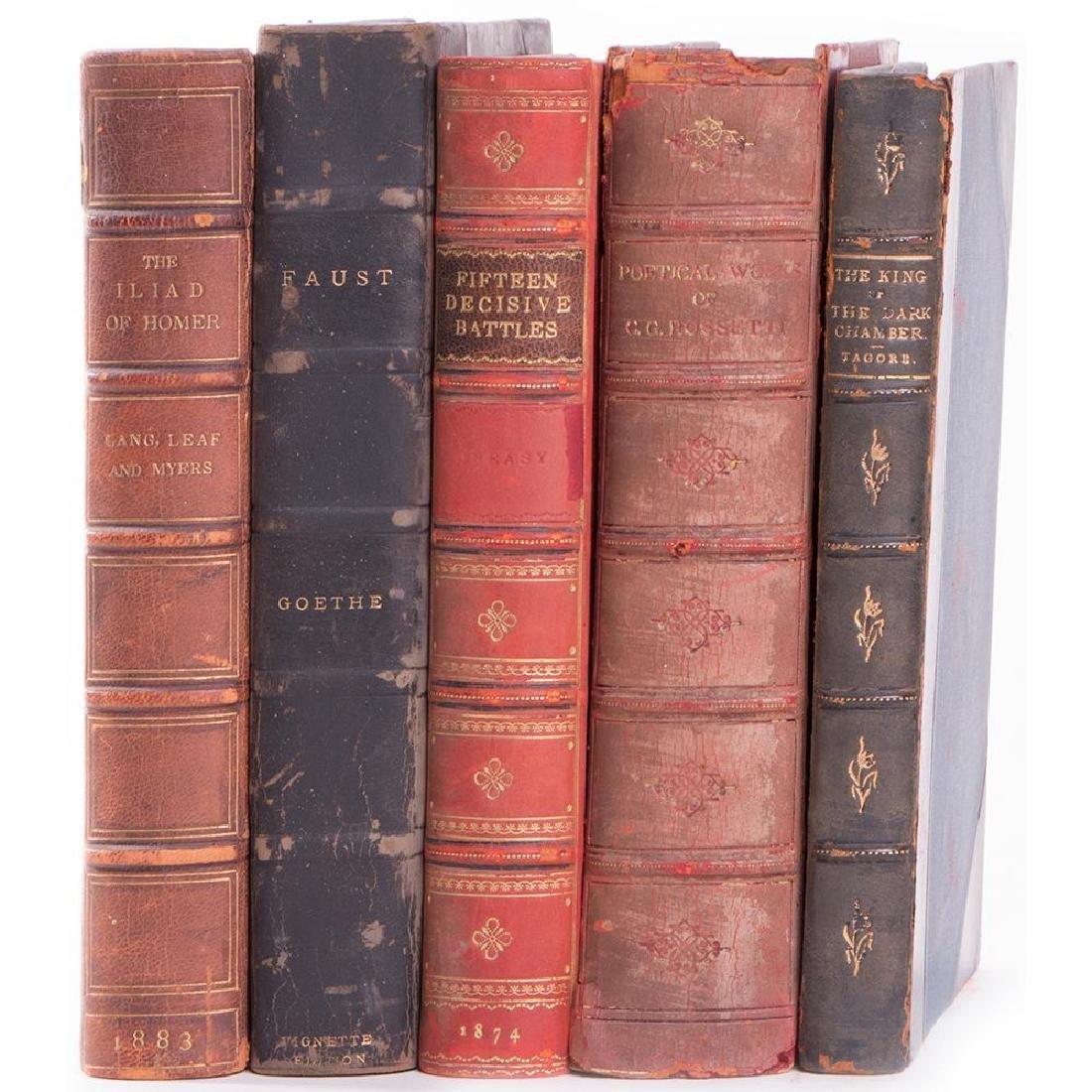 Five various works: Illiad; Faust, 15 Decisive Battles