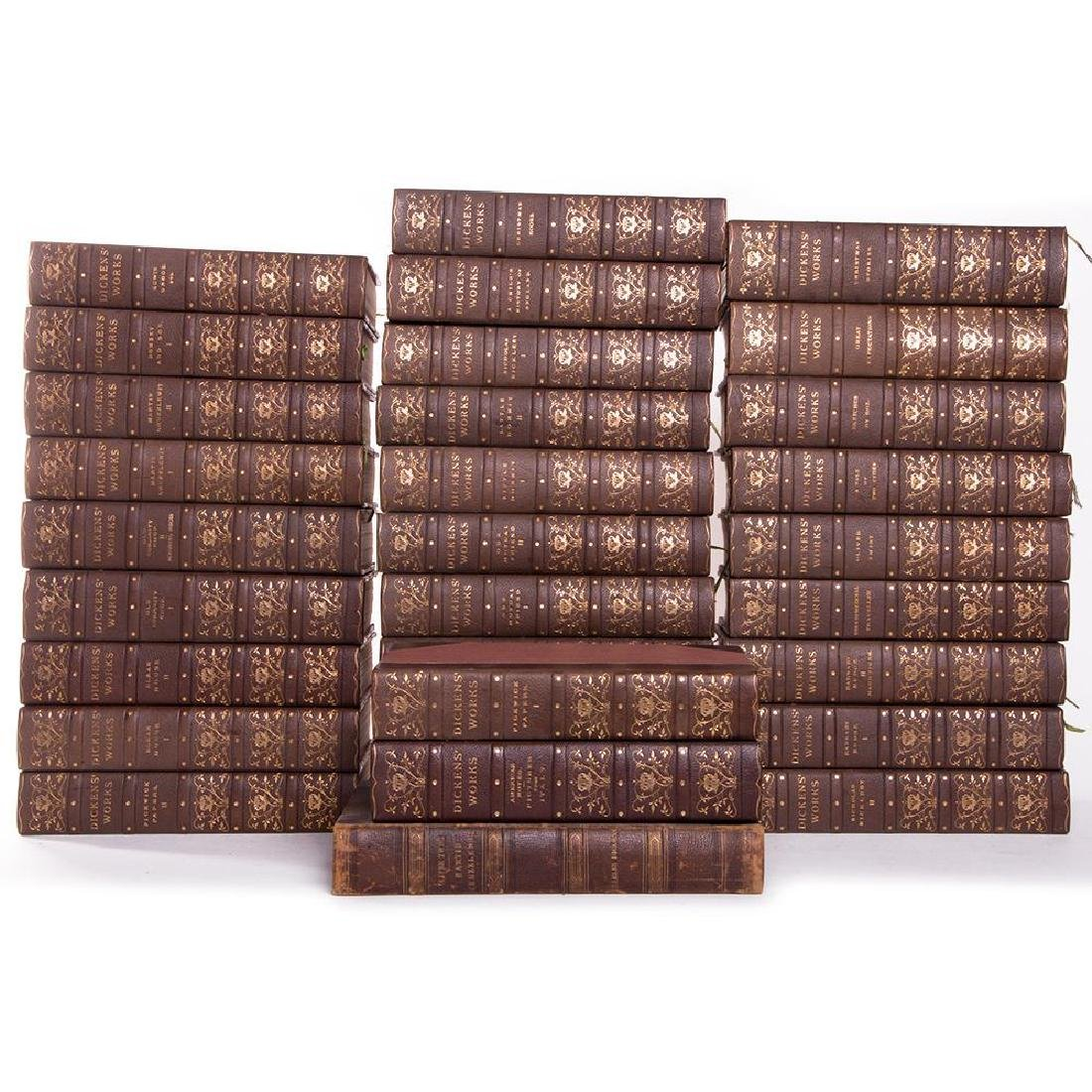 Thirty volumes by Charles Dickens