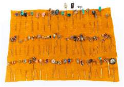 Collection of 70+ gem-set stickpins