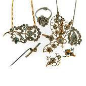Collection of antique diamond jewelry