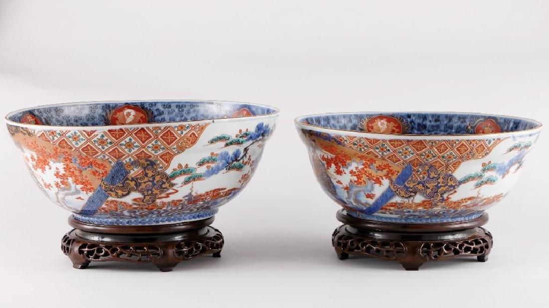 TWO JAPANESE IMARI BOWLS - 2