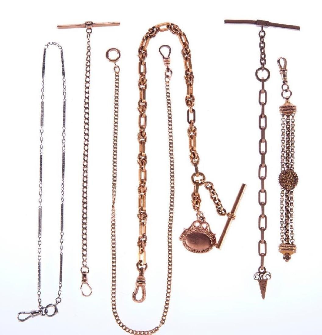 Six watch fob chains