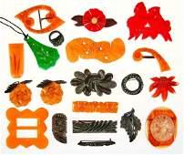 Collection of bakelite jewelry