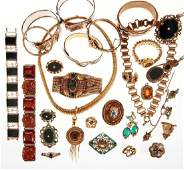 Collection of Victorian and vintage jewelry