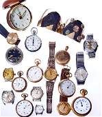 Collection of watches and parts