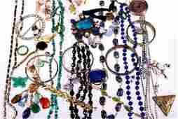 Rhinestone, silver, beaded, costume & metal jewelry