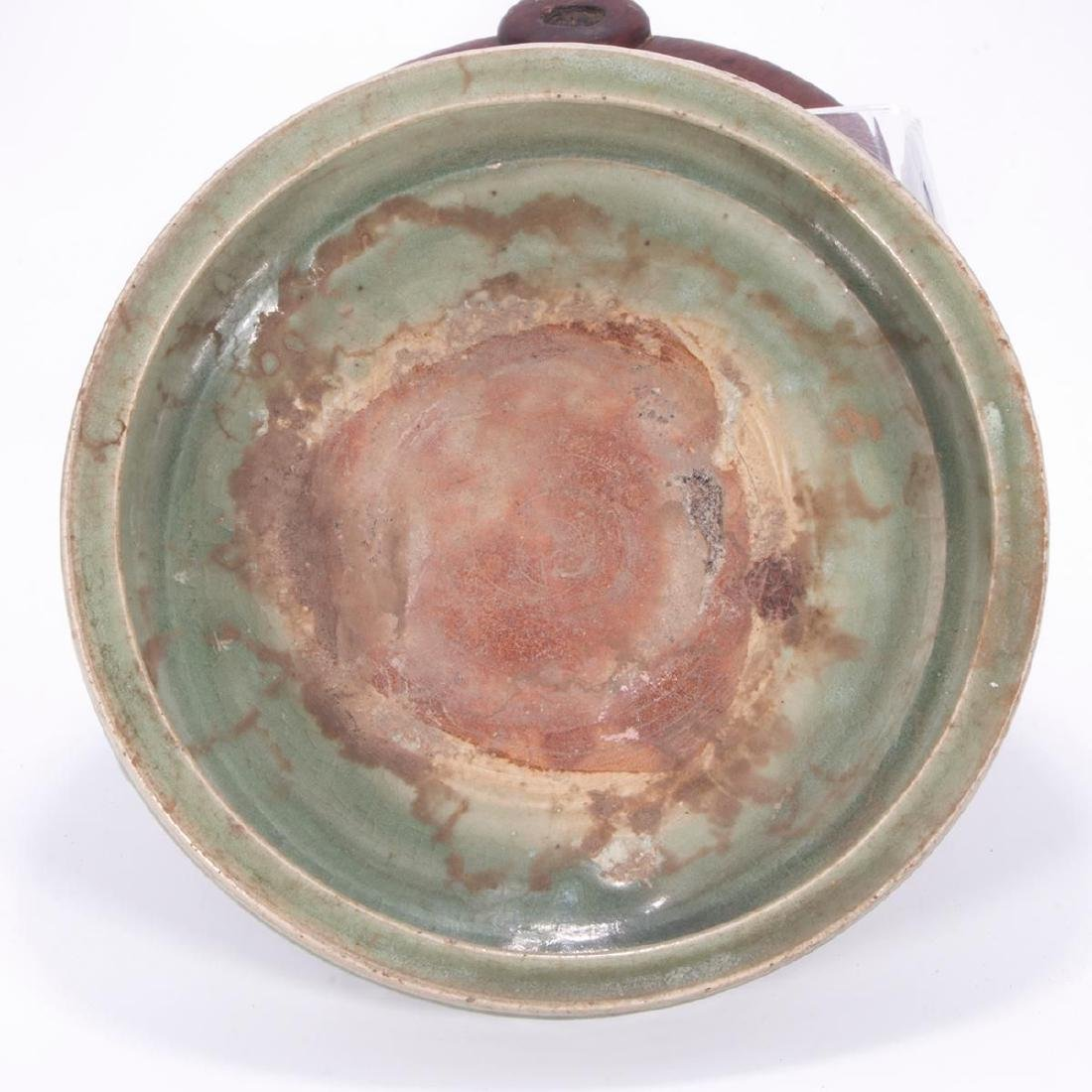 Very fine Chinese Ming fishbowl shaped celadon planter. - 5