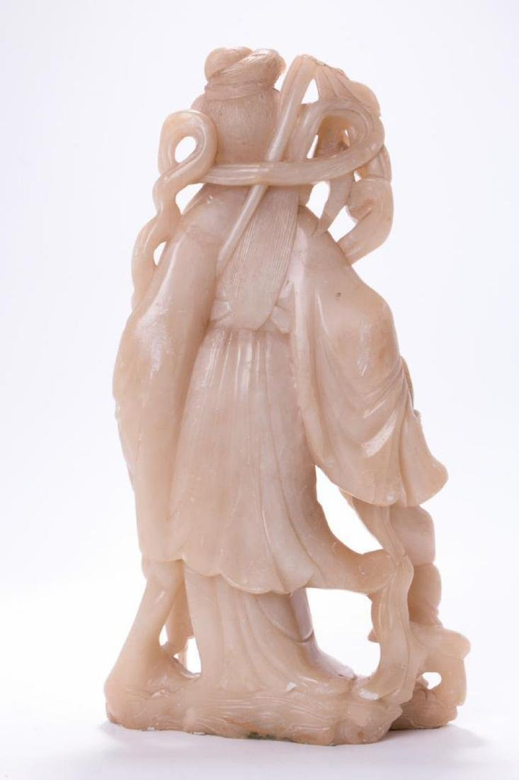 A large Chinese stone carving of a goddess. - 3