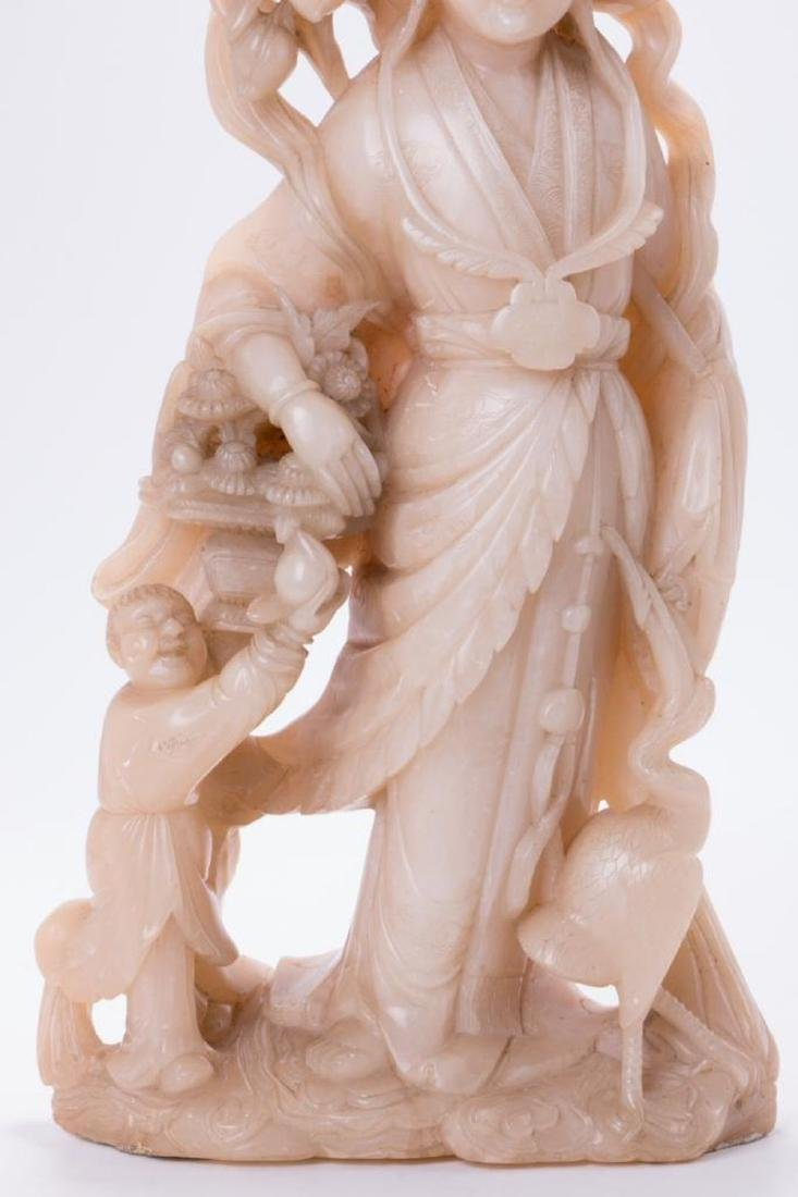 A large Chinese stone carving of a goddess. - 7