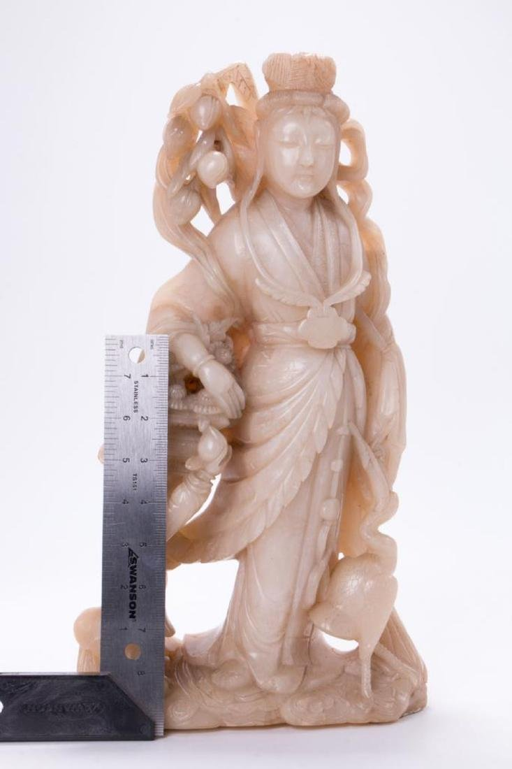 A large Chinese stone carving of a goddess. - 8