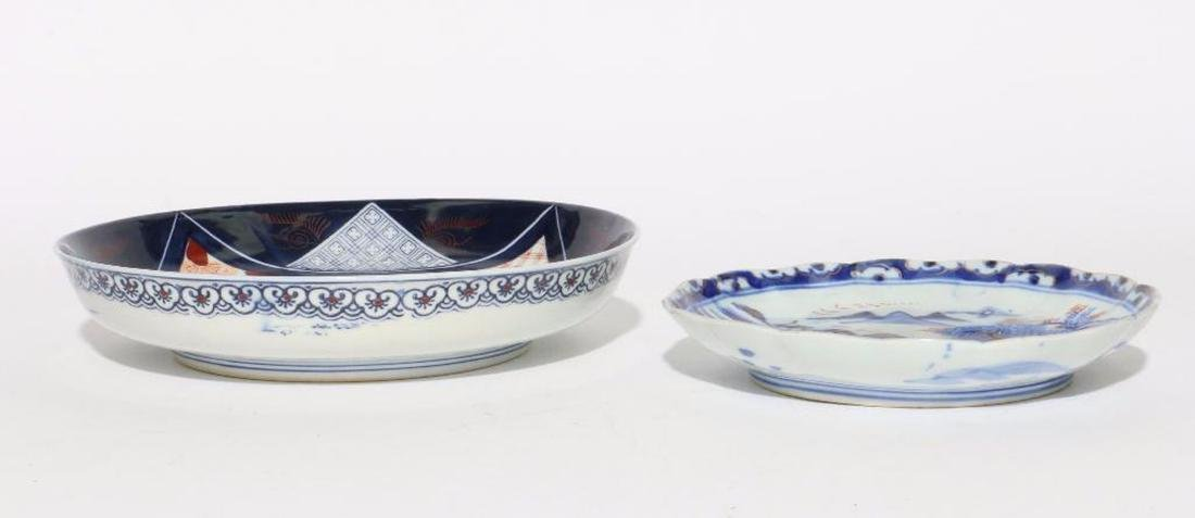 Two Japanese Imari dishes. - 2