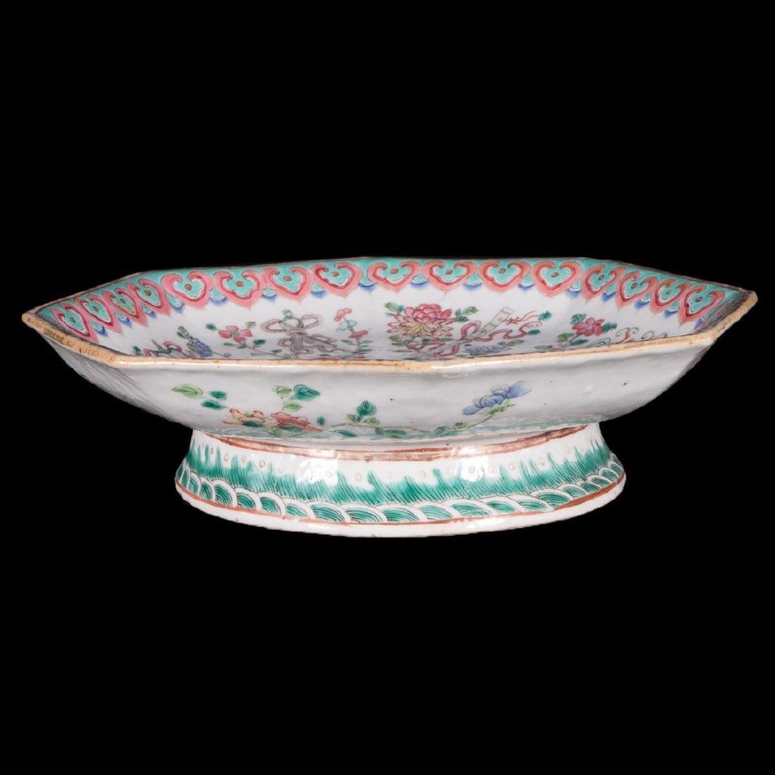 Chinese porcelain footed bowl.