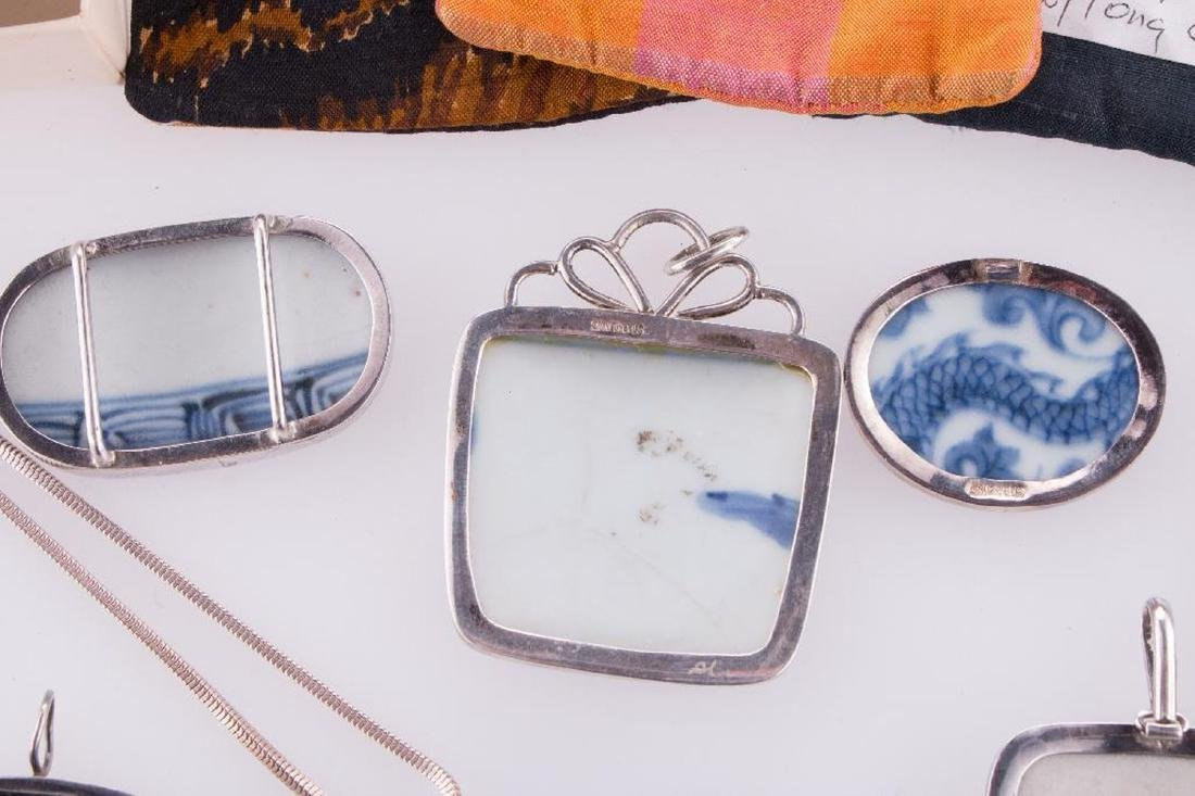 Collection of Asian pendants and purses. - 5
