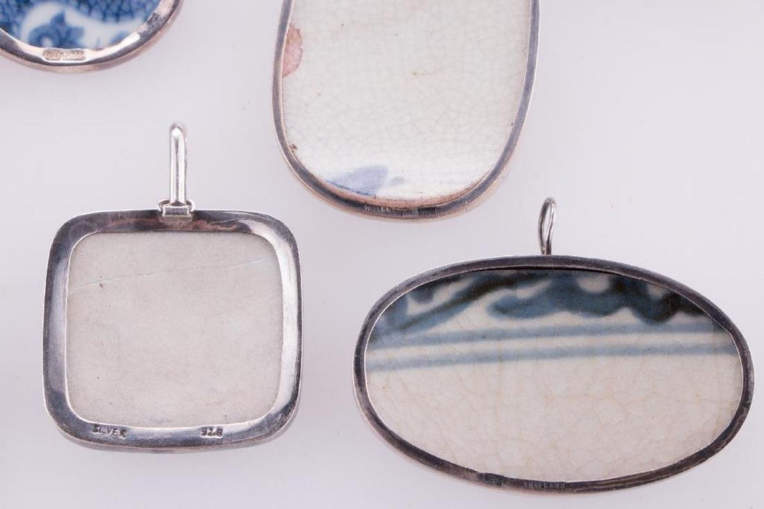 Collection of Asian pendants and purses. - 6