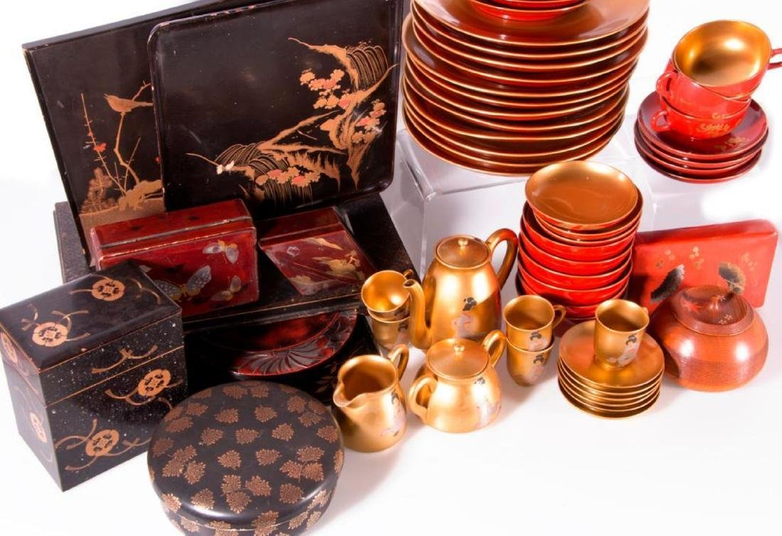 Collection of Japanese lacquer ware. - 3