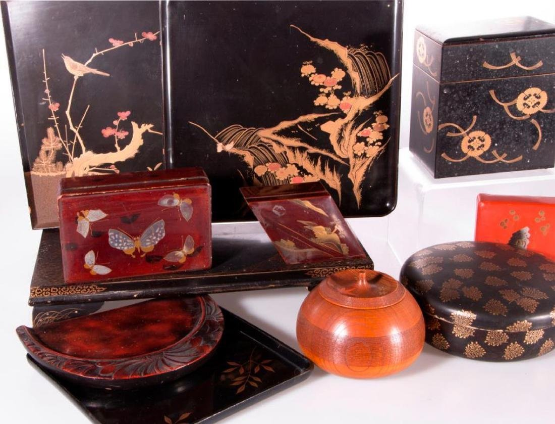 Collection of Japanese lacquer ware. - 5