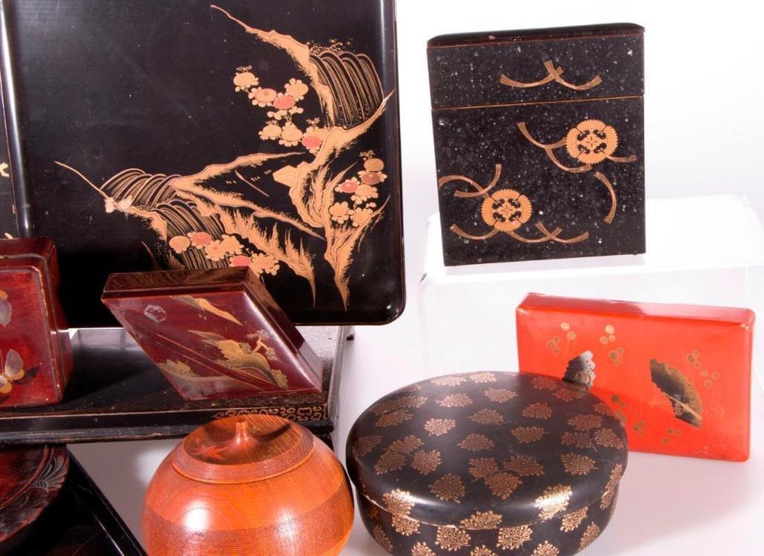 Collection of Japanese lacquer ware. - 6