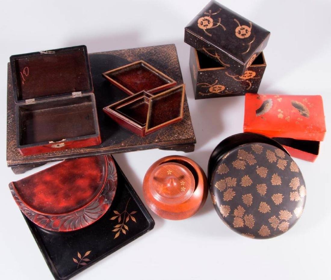 Collection of Japanese lacquer ware. - 7
