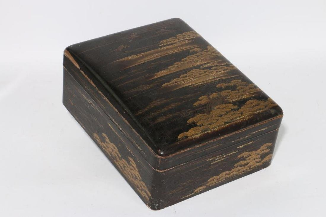 A Japanese lacquer box.