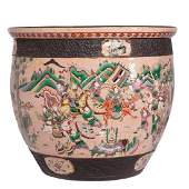 A 19th century Chinese fish bowl