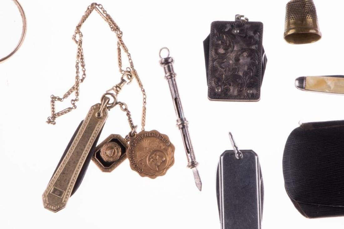 Collection of silver, gold-filled objects and accessori - 2