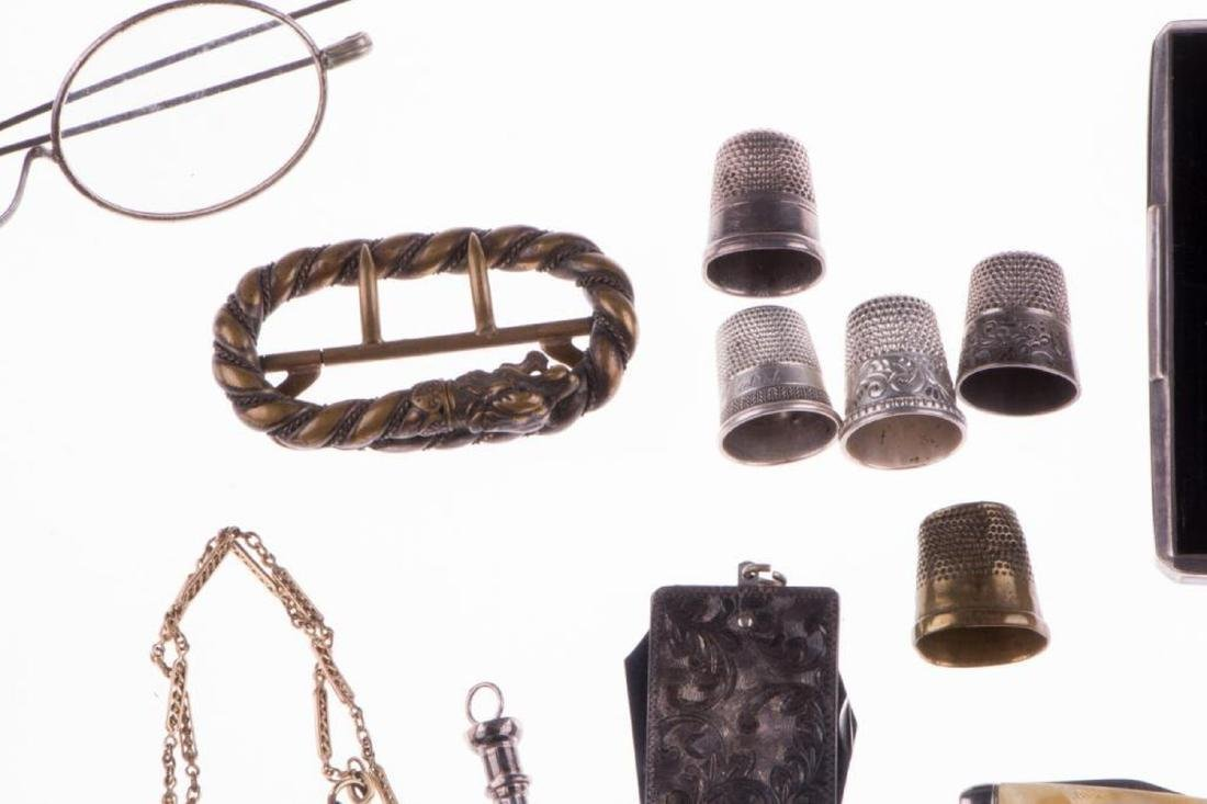 Collection of silver, gold-filled objects and accessori - 3