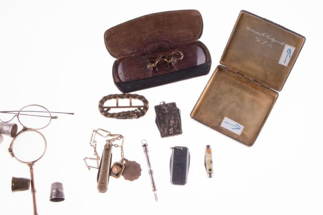 Collection of silver, gold-filled objects and accessori - 4