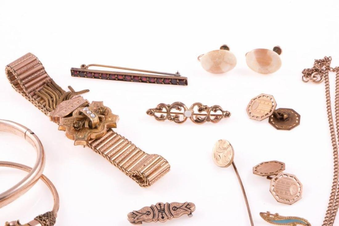Collection of antique gold-filled jewelry - 2