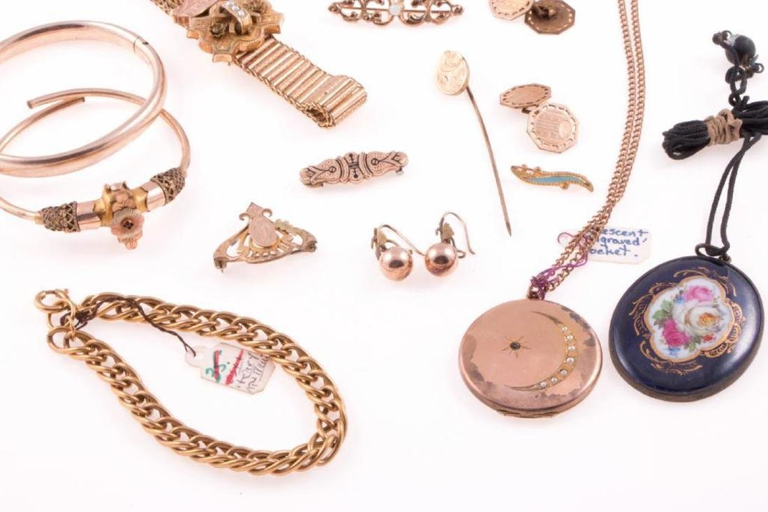 Collection of antique gold-filled jewelry - 3