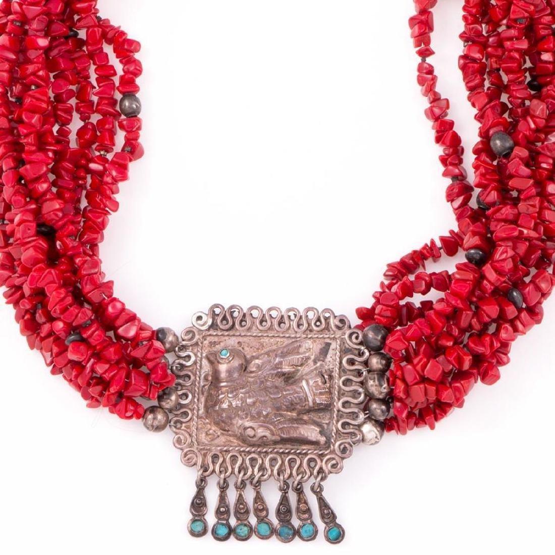 Ricardo Salas for MATL Mexico, coral & turquoise neckla - 2