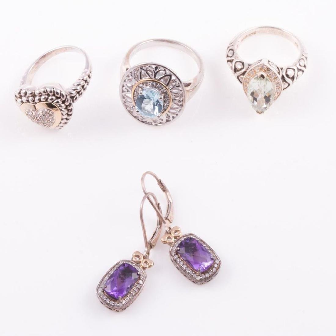 Gem-set, diamond and sterling silver jewelry - 2