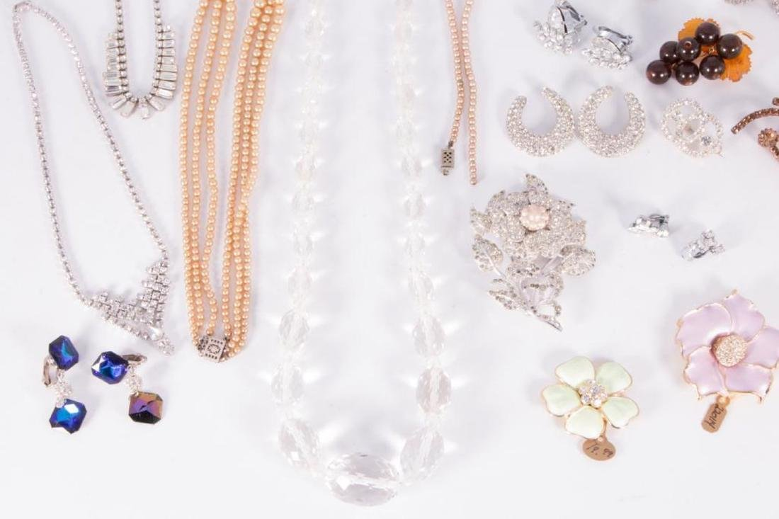 Collection of rhinestone and rock crystal jewelry - 3