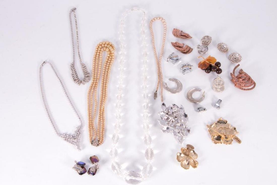 Collection of rhinestone and rock crystal jewelry - 4