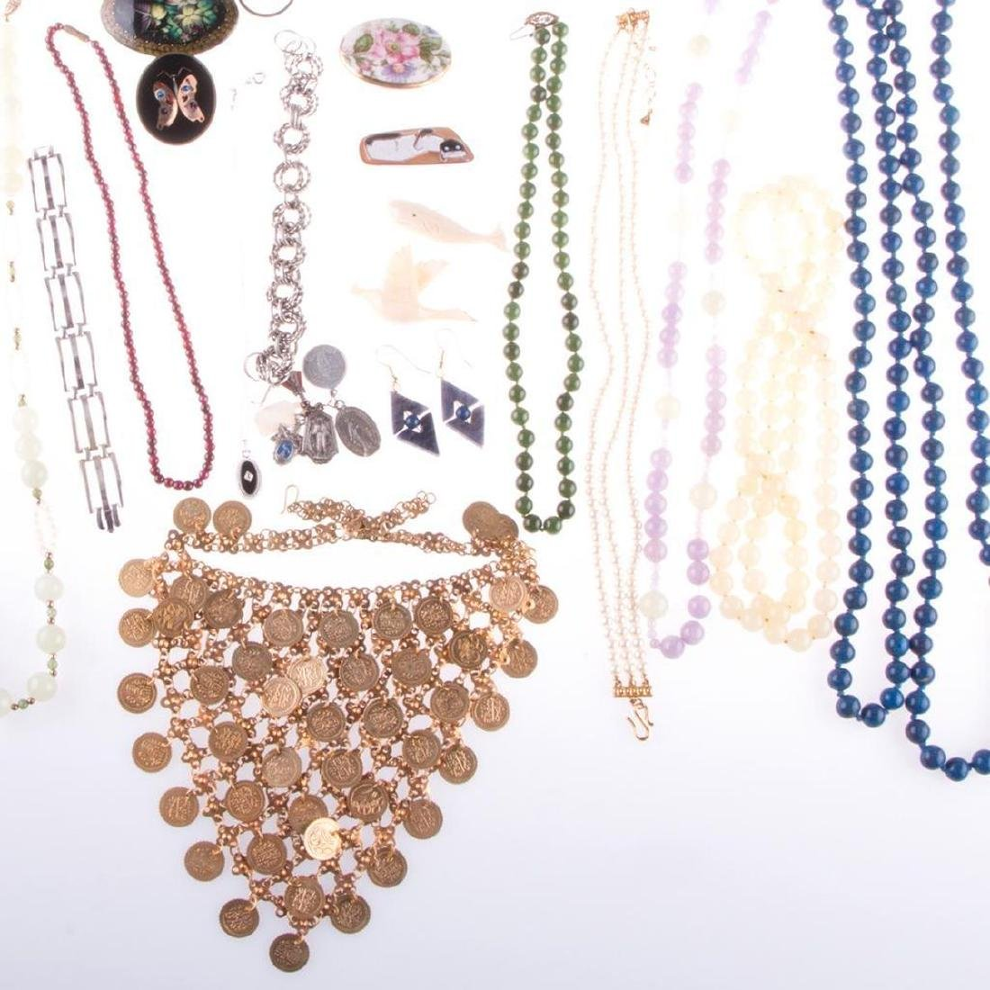 Collection of beaded, costume jewelry and medals - 2
